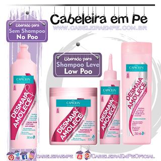 Condicionador (Low Poo), Manteiga (Low Poo), Leite (Low Poo) e Creme para Pentear (No Poo) Desmaia e Amolece - Capicilin