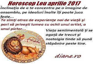 Horoscop aprilie 2017 Leu