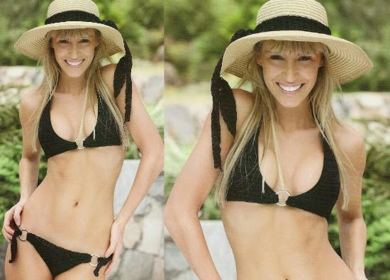 Bikini con anillas de crochet patron