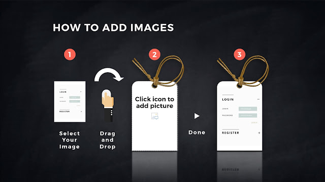 How to add images into Realistic Label Tag mockups in PowerPoint Template