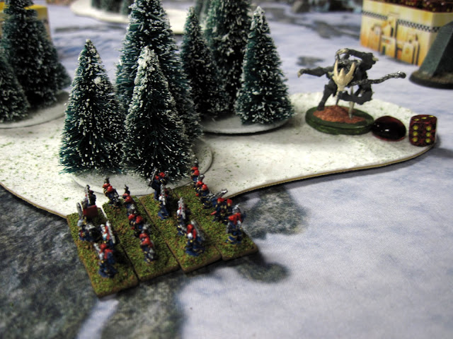 Never ones to run from a fight, Coach's Night Lords face down Ron's Kashnarak.