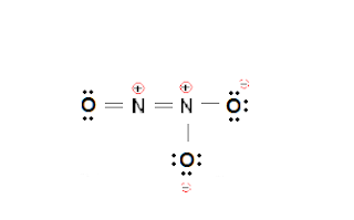 Fig. 2: A less plausible Lewis structure of N2O3