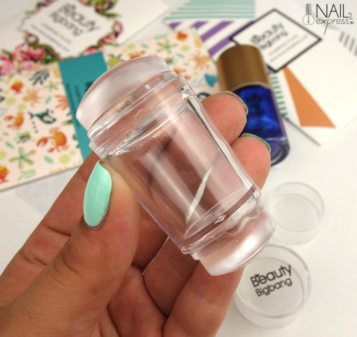 Beauty Big Bang_Double-end Silicone Clear Jelly Head nail stamper and scraper