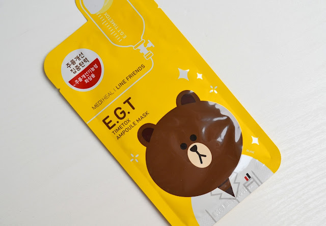 Mediheal Line Friends EGT Timetox Ampoule Mask Review