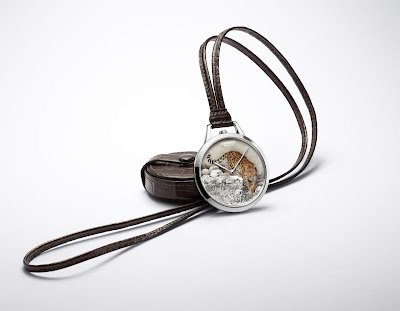 Hermès Slim d'Hermès Pocket Panthère watch