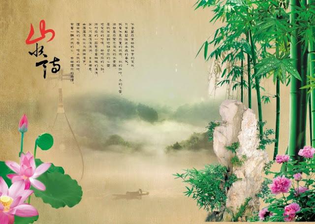 Bức tranh phong cảnh truyền thống phong cảnh