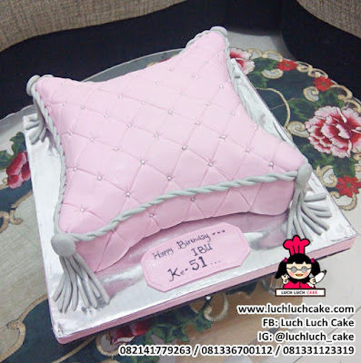 Kue Tart 3d Bentu Bantal Untuk Ibu