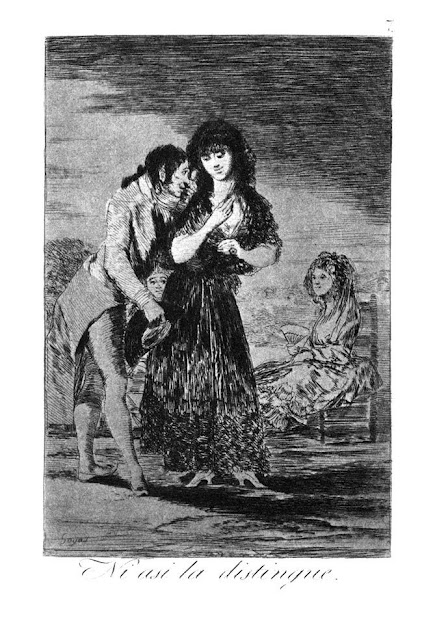 Goya - Ni asi la distingue / Even so he cannot make her out