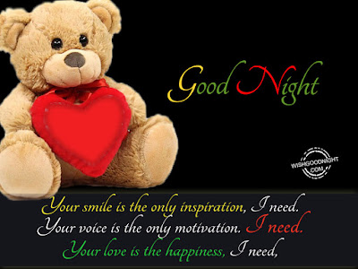good night husband your smile is the only inspiration,