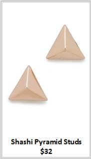 Sydney Fashion Hunter - Rose Gold - Shashi Pyramid Studs