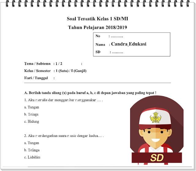 Soal Tematik Kelas 1 Tema 1 Subtema 2 Semester 1