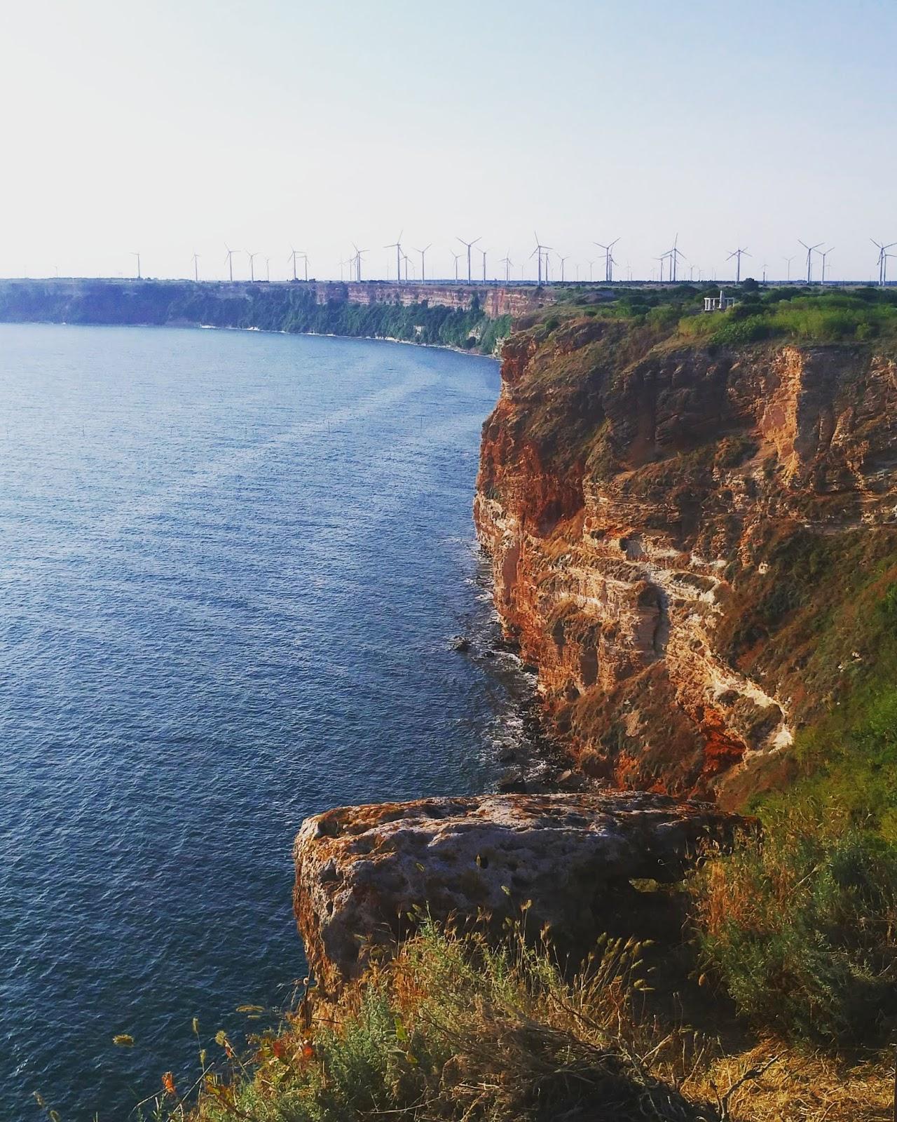 widok z przylądka Kaliakra w Bułgarii
