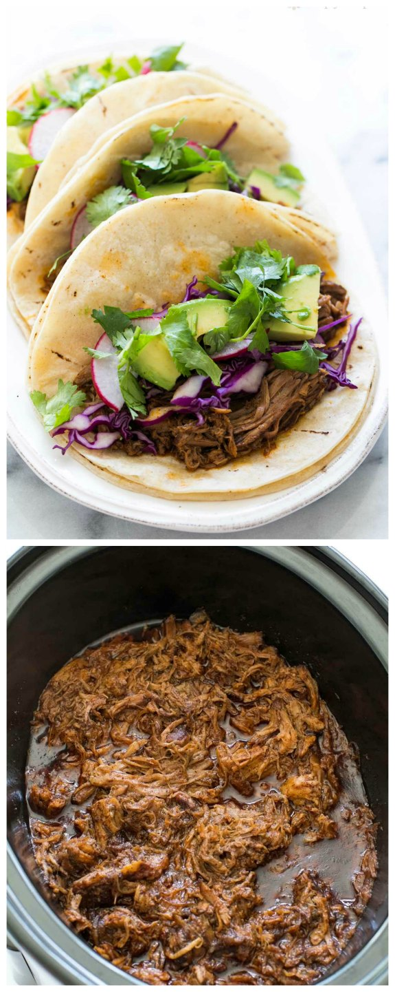 Slow Cooker Mexican Pulled Pork from Simply Recipes featured on SlowCookerFromScratch.com