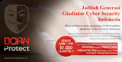 Born To Control akan Jaring 10.000 Kandidat Gladiator Cyber Security Indonesia