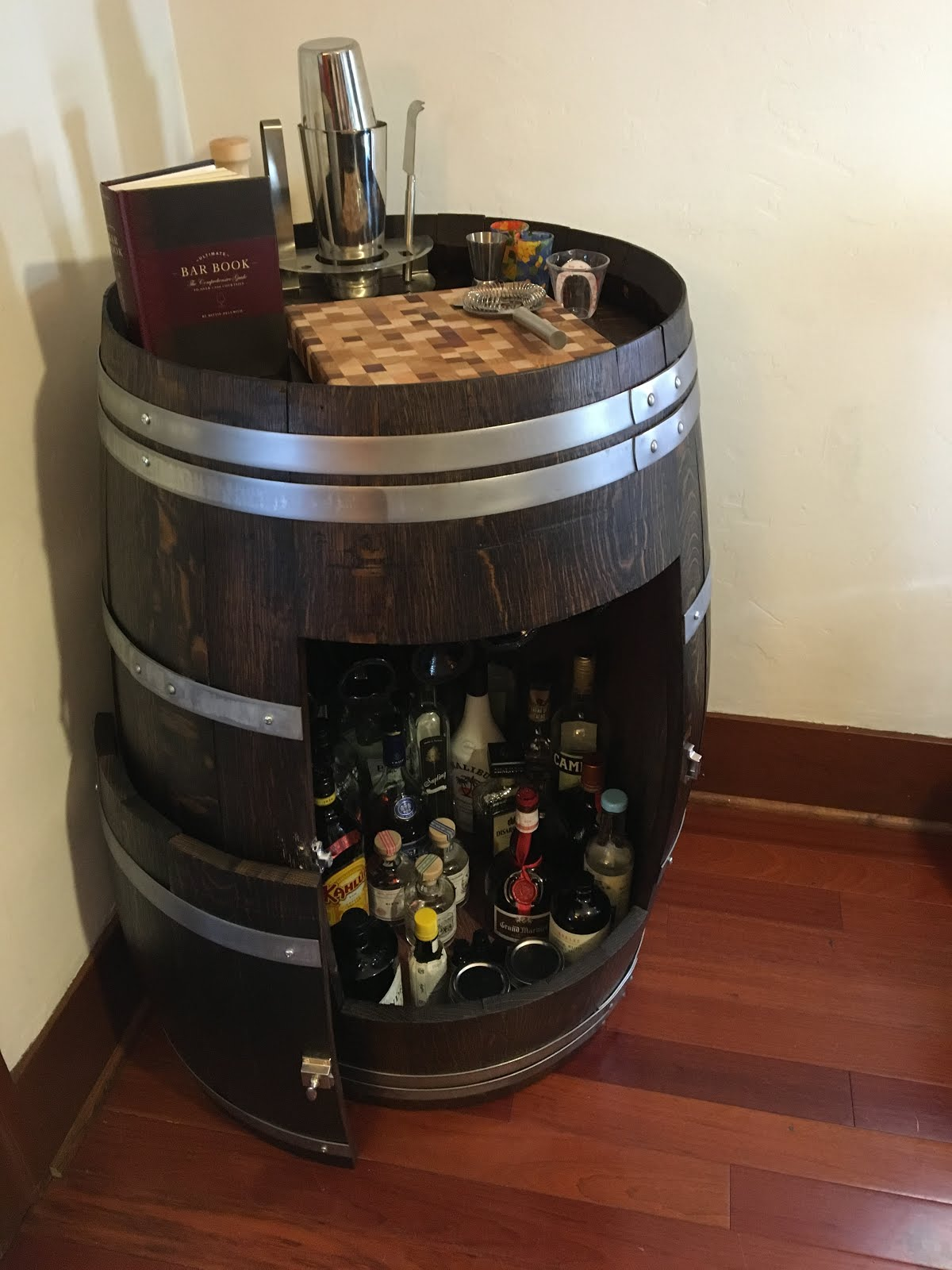 Wine barrel liquor cabinet (or, the never-ending project ...