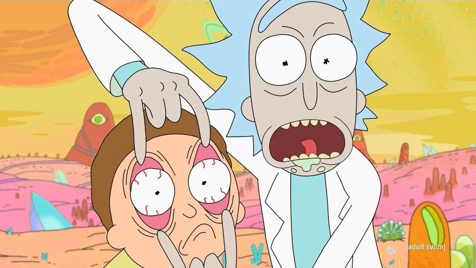 Rick Sanchez y Morty Smith en una escena de 'Rick and Morty'