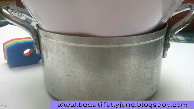 Homemade bain marie or double boiler