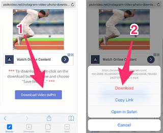 How to download Instagram Vidoes on IOS