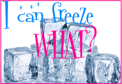 Thrifty Tips:  I Can Freeze WHAT!?  Freezable Items to Save Time & Money!