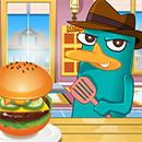 Perry Cooking American Hamburger