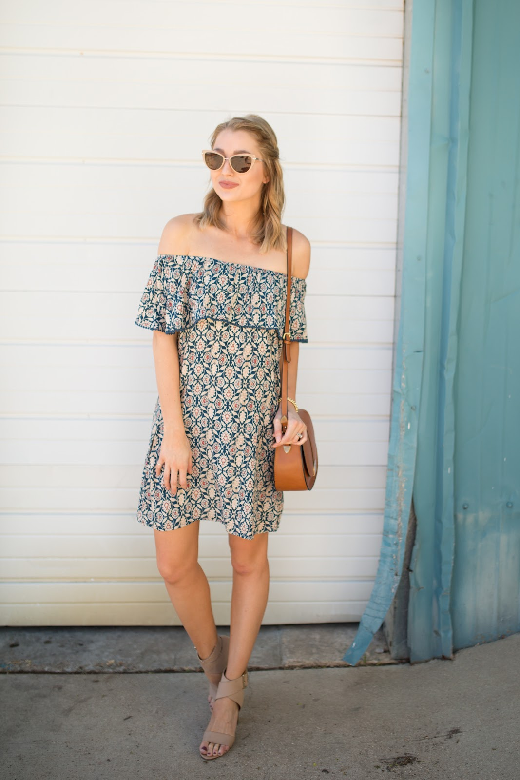 Summer off-the-shoulder dress