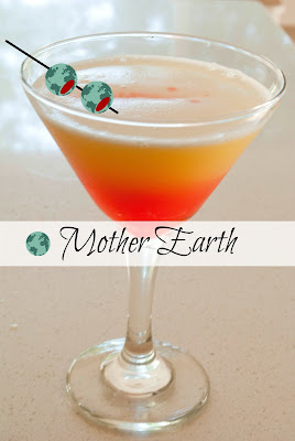 Mother Earth cocktail, great for Earth Day or any day.