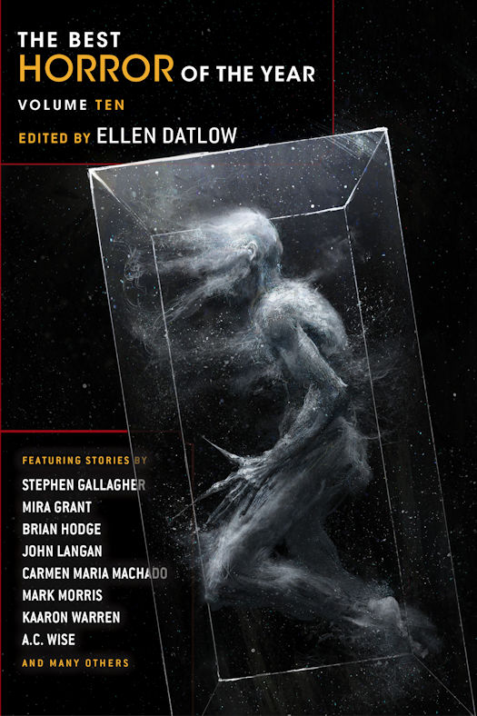 The Best Horror of the Year, Volume 10 - Cover and Table of Contents