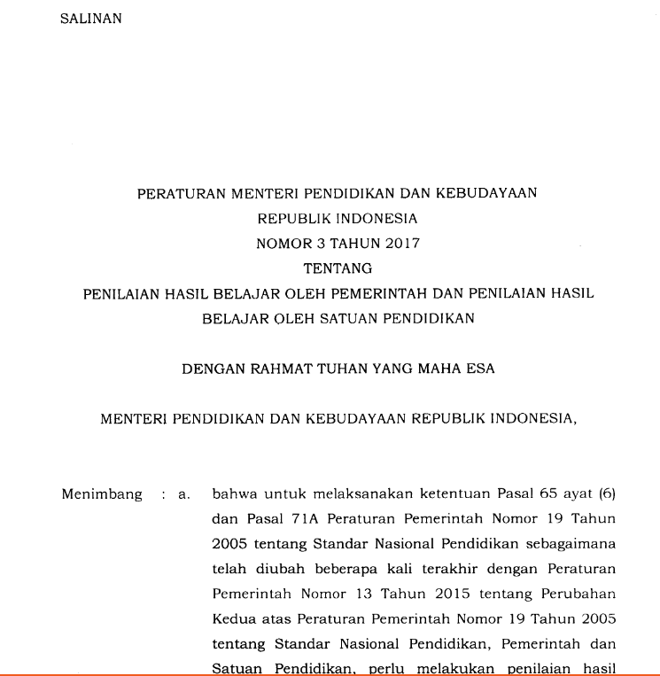 Dalam Rangka Meningkatkan Mutu Penilaian Oleh Pemerintah Dan Satuan Pendidikan Serta Untuk Mendorong Pencapaian Standar Kompetensi Lulusan Secara Nasional