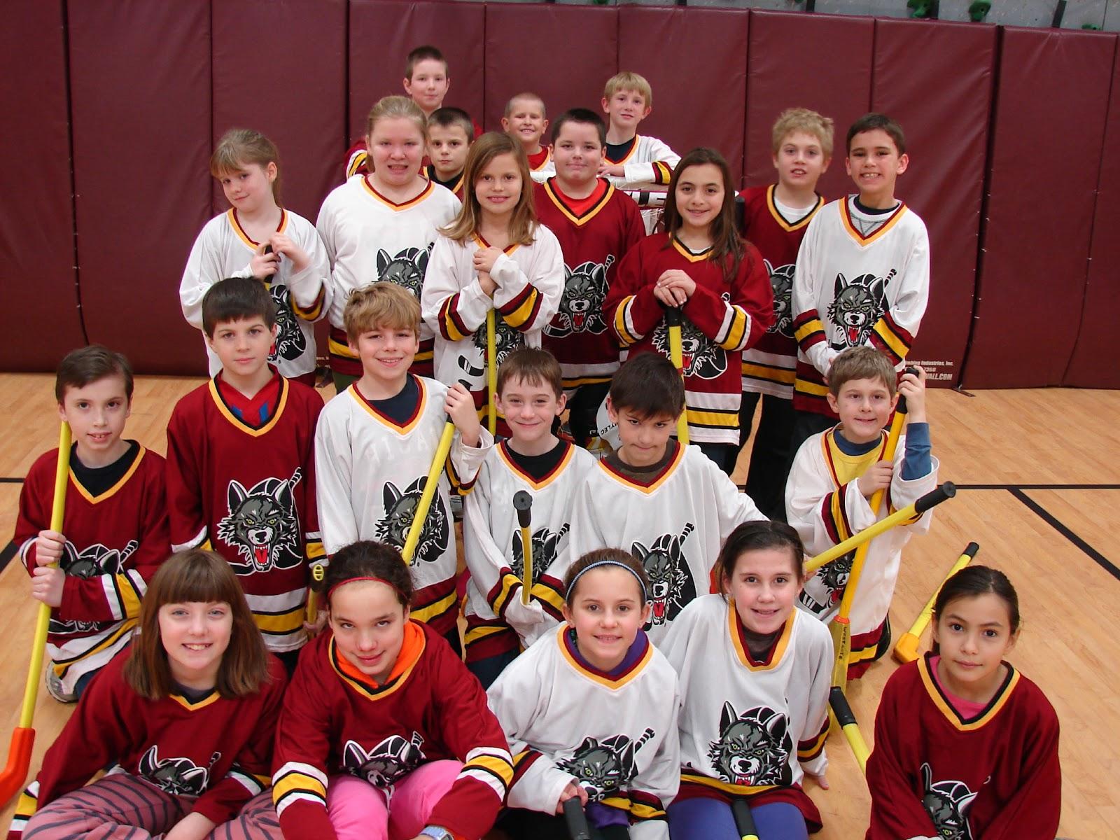 Westgate Elementary Pe Chicago Wolves Floor Hockey