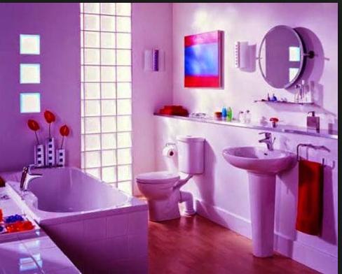 insprasi interior rumah nuansa ungu