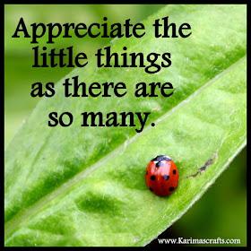 Appreciate the little things