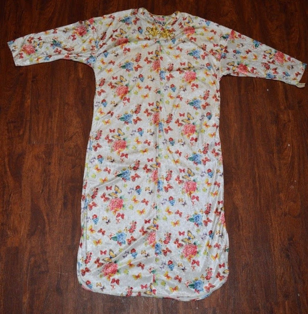 Womens Ariel Pajamas Size Small Long Floral 100% Polyester Vintage