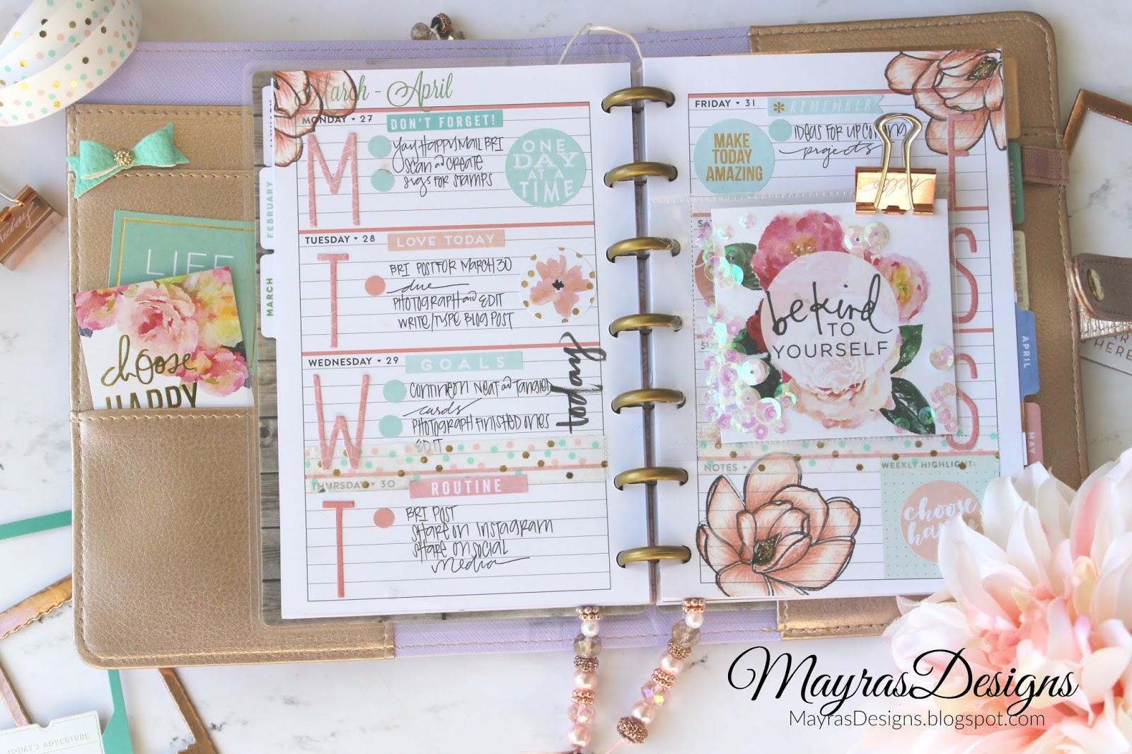 Mayras Designs Magnolias Planner Spread And Card