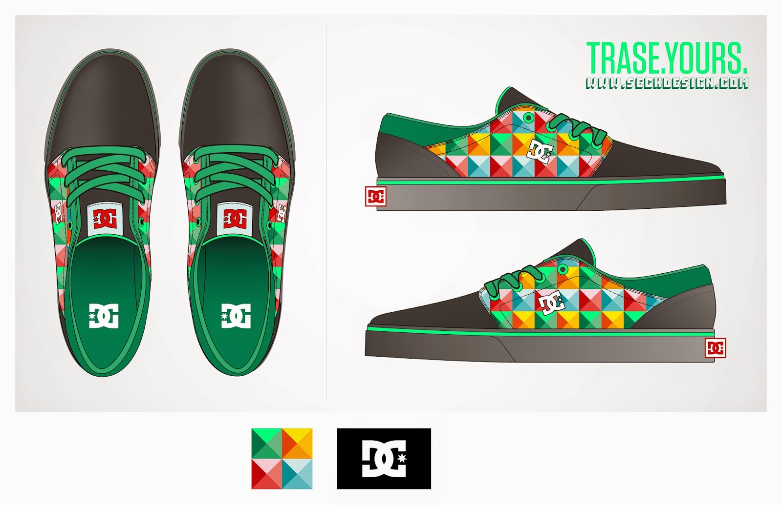 DC TRASE SHOE DESIGN CONTEST - MY ENTRY  CUBISM  87e8183e42a82
