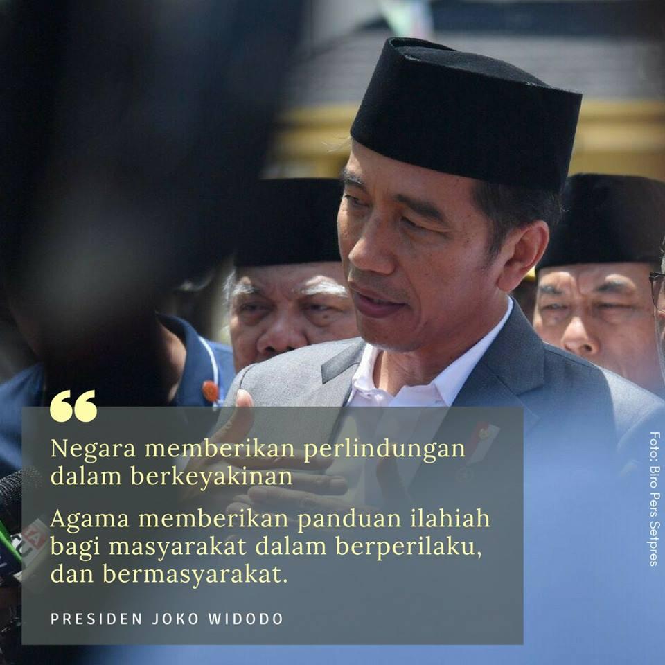 Jokowi agama dan negara