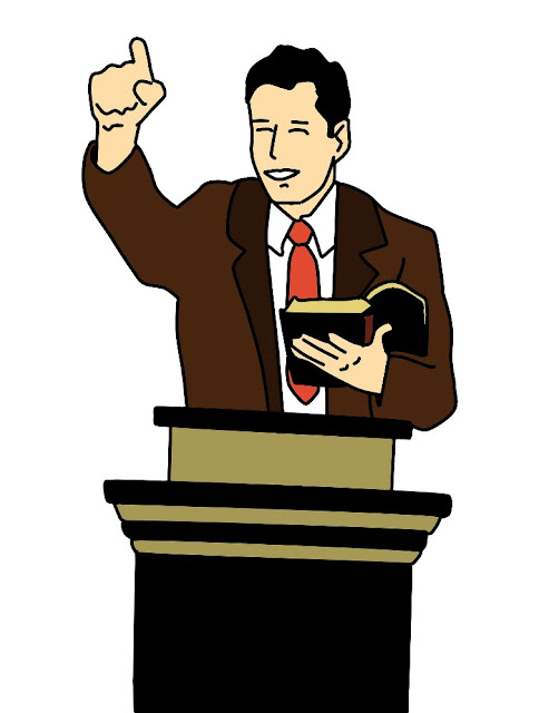 Male preacher motivating his audience