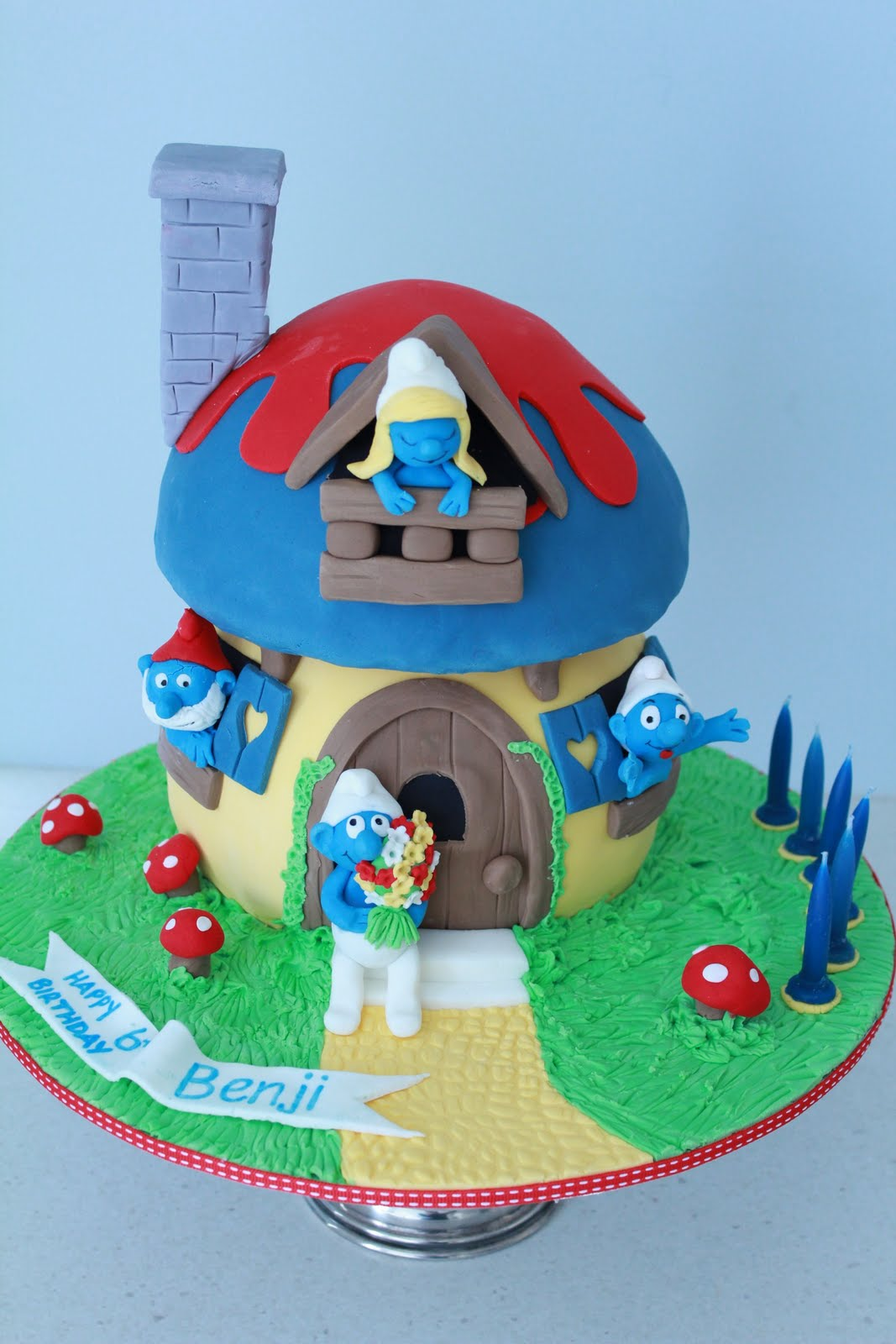 Blissfully Sweet Smurfs Birthday Cake