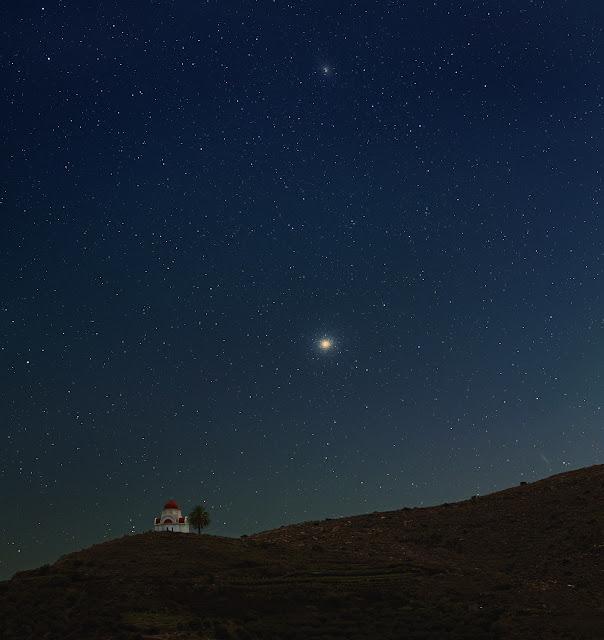 Từ Alpha tới Omega trên bầu trời đảo Crete. Tác giả : Johannes Schedler (Đài quan sát Panther).