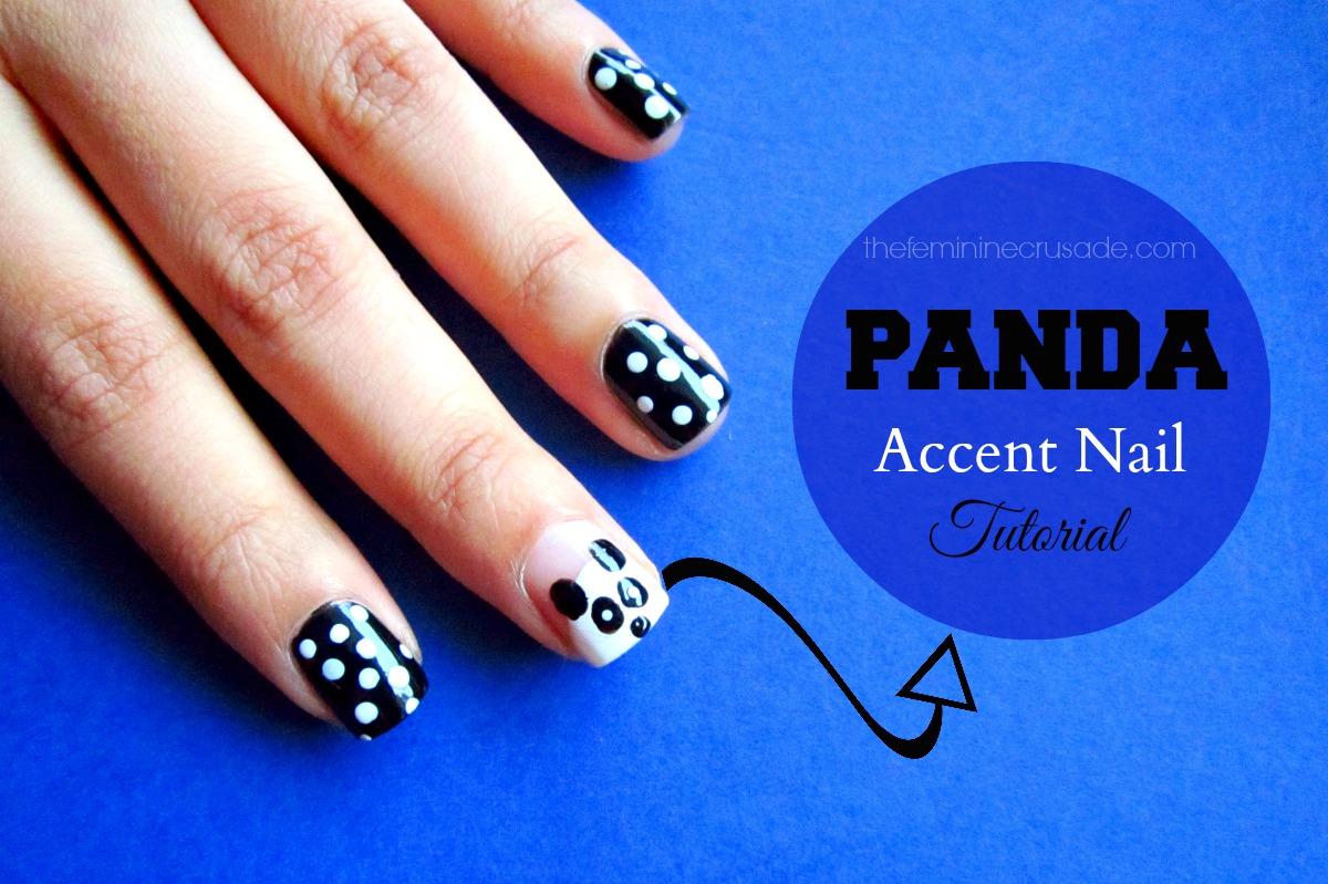 Panda Accent Nail - Tutorial