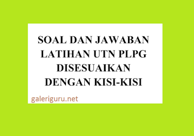 Download Berkas Contoh Soal UTN PLPG Sesuai dengan Kisi-Kisi - Galeri Guru