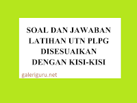 Download Berkas Contoh Soal UTN PLPG Sesuai dengan Kisi-Kisi