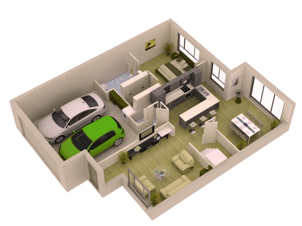 Stylish%2BModern%2BHome%2B3D%2BFloor%2BPlans%2B%25286%2529 Stylish Home 3D Floor Plans Interior