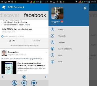 BBM Mod WP With Facebook Fragment v3.0.1.25 Apk Terbaru