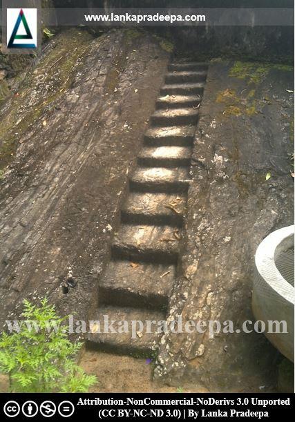 The rock cut flight of steps, Gallengolla Viharaya