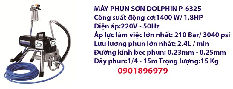MÁY PHUN SƠN DOLPHIN P-6325