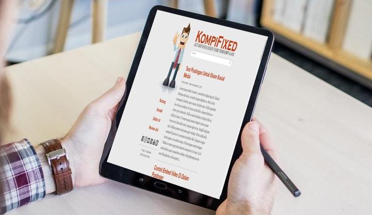 Template Kompi Fixed, Cocok Buat Niche Blog Personal