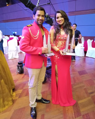 Amrapali Dubey and Nirahua at the 4th International Bhojpuri Film Awards 2018 (IBFA) in Malaysia