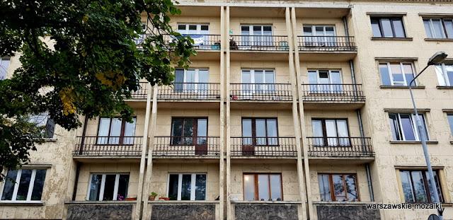 balkon Warszawa Warsaw architektura modernizm Mokotów lata 30 Zdzisław Maczeński Jan Wedel