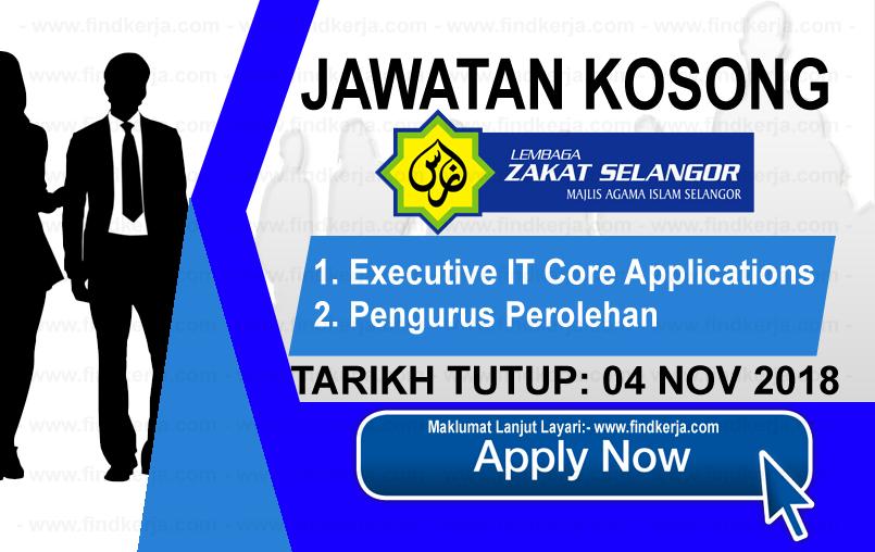 Jawatan Kerja Kosong LZS - Lembaga Zakat Selangor logo www.ohjob.info www.findkerja.com november 2018