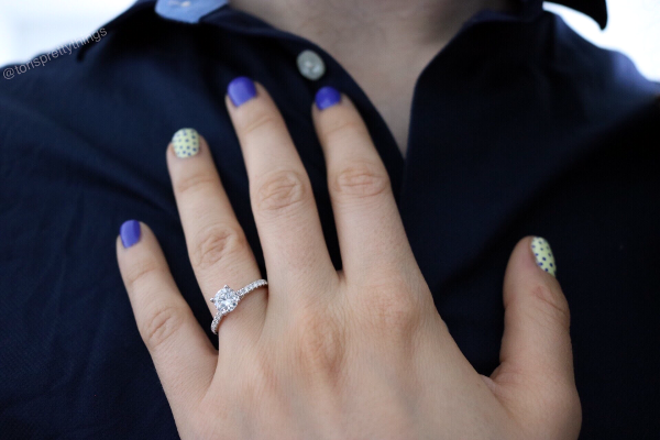 My thin-band, Pave Engagement Ring - Tori's Pretty Things Blog